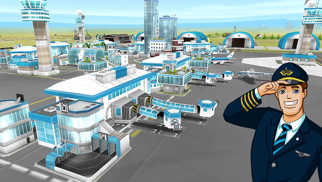 3D Airports of Aviation Empire App as Brand Advertising Campaign by KLM Netherlands