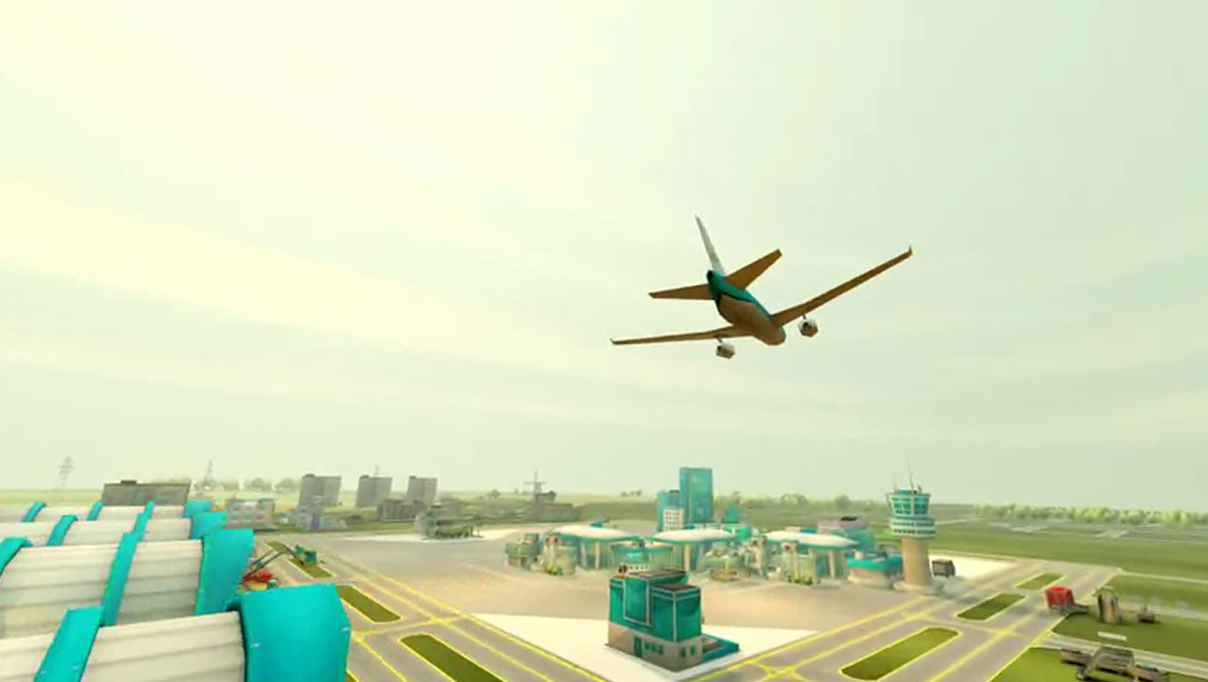 3D Aviation Infrastructure of Aviation Empire App as Brand Advertising Campaign by KLM Netherlands