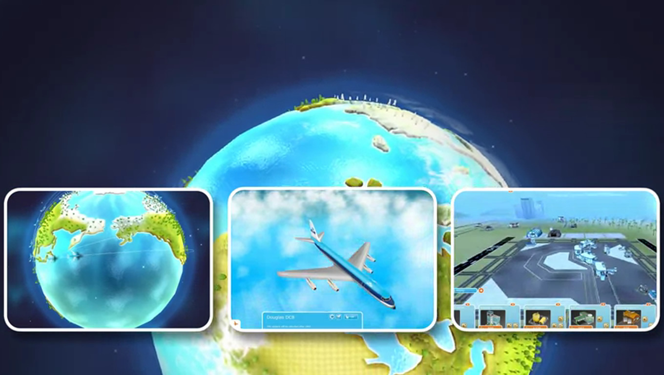 3D Travel Game Strategy, Aviation Empire as Brand Advertising Campaign by KLM Netherlands