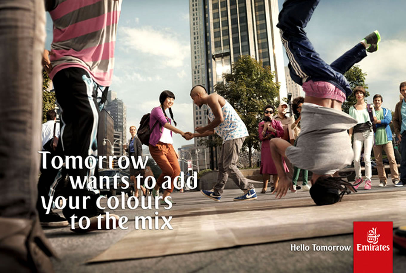 Add Your Colours To The Mix, Hello Tomorrow Marketing Campaign by Emirates Airlines