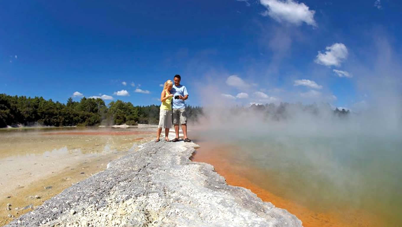 Ancient Geothermal Activity in Rotorua, Tourism New Zealand