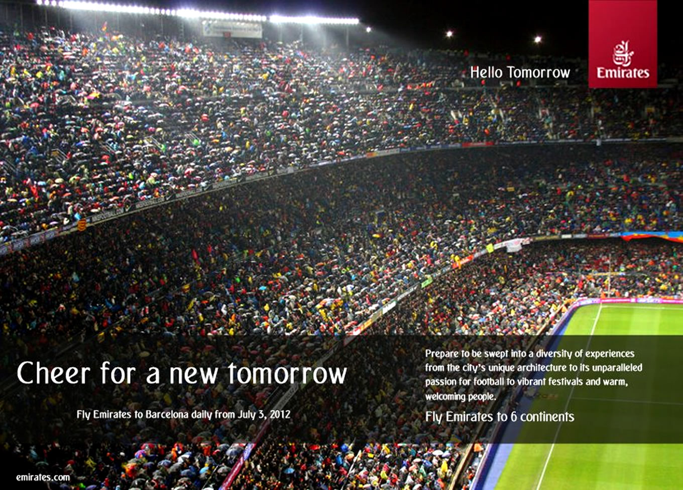 Barcelona Stadium, Hello Tomorrow Marketing Campaign by Emirates Airlines