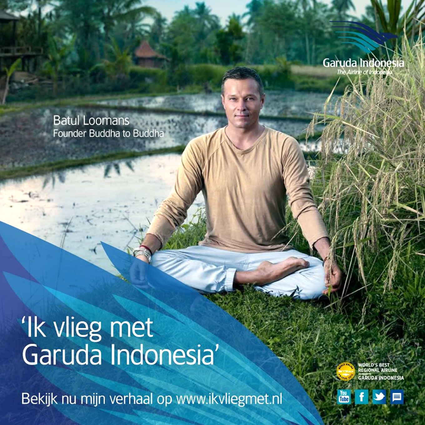 Batul Loomans, Ik Vlieg Met Travel Marketing Campaign by Garuda Indonesia Netherland