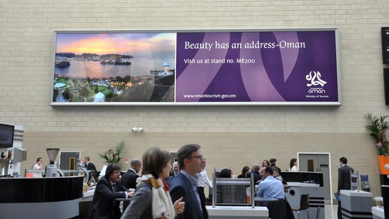 Beauty Has an Address Billboard Advertising by Oman Sultanate