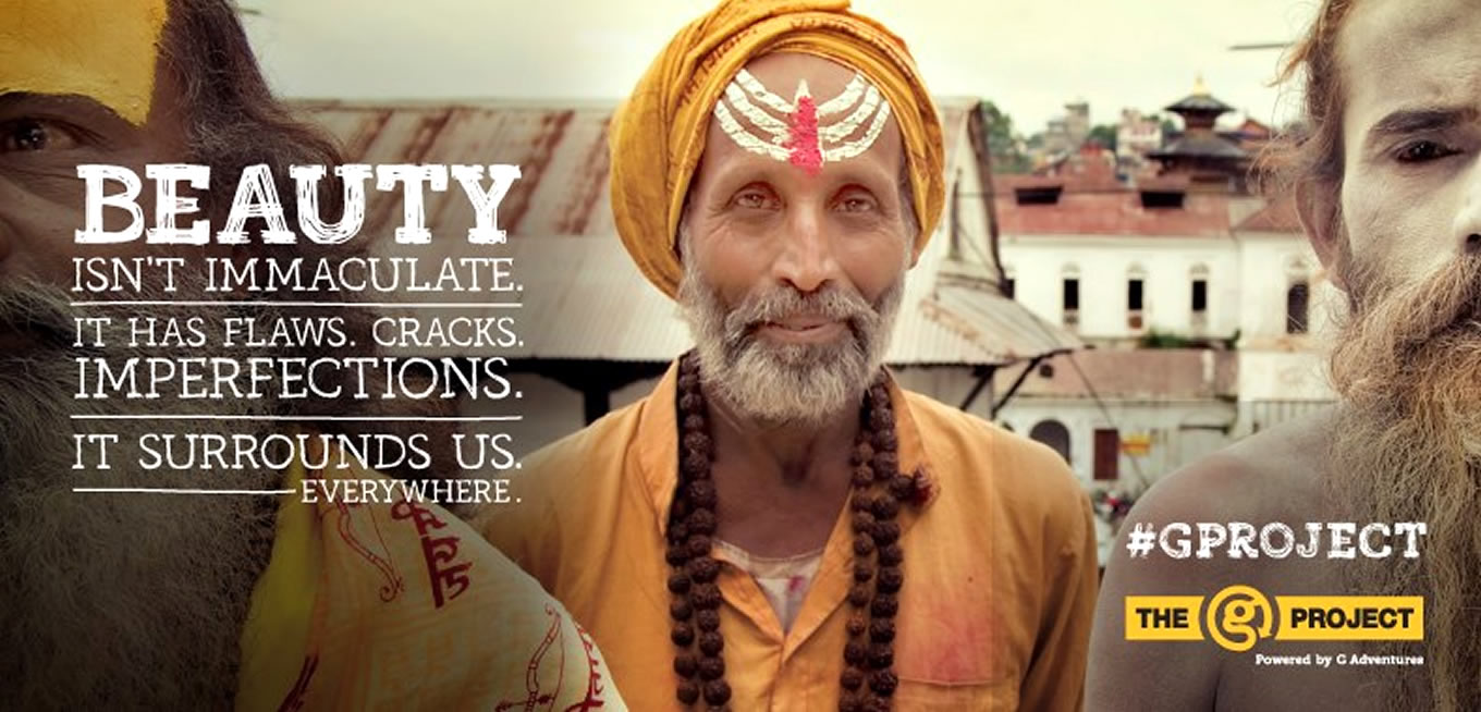 Beauty, The G Project Social Travel Advertising Campaign by G Adventures