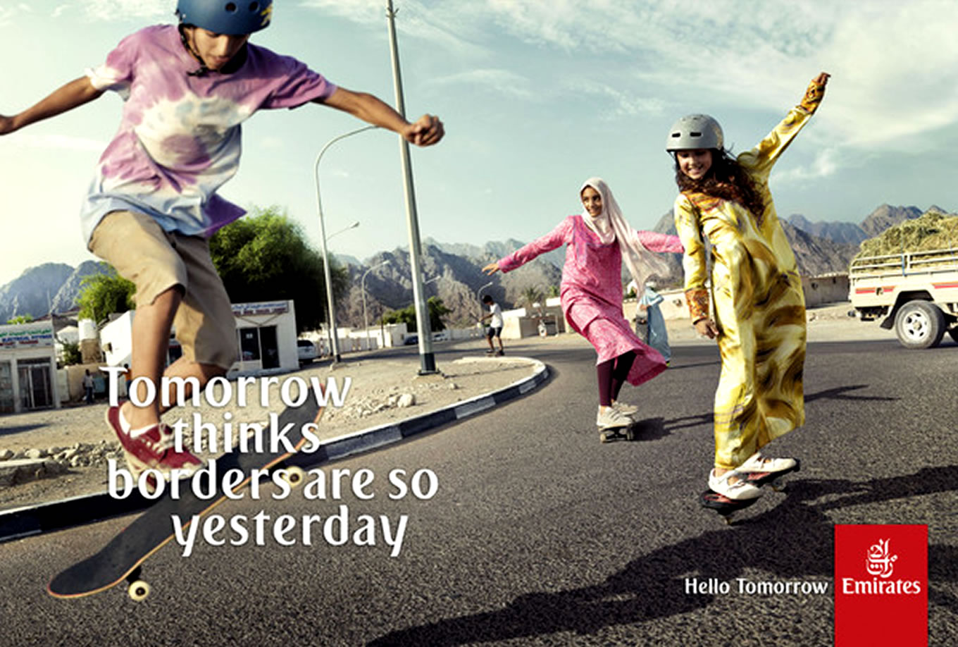 Borders Are So Yesterday, Hello Tomorrow Marketing Campaign by Emirates Airlines