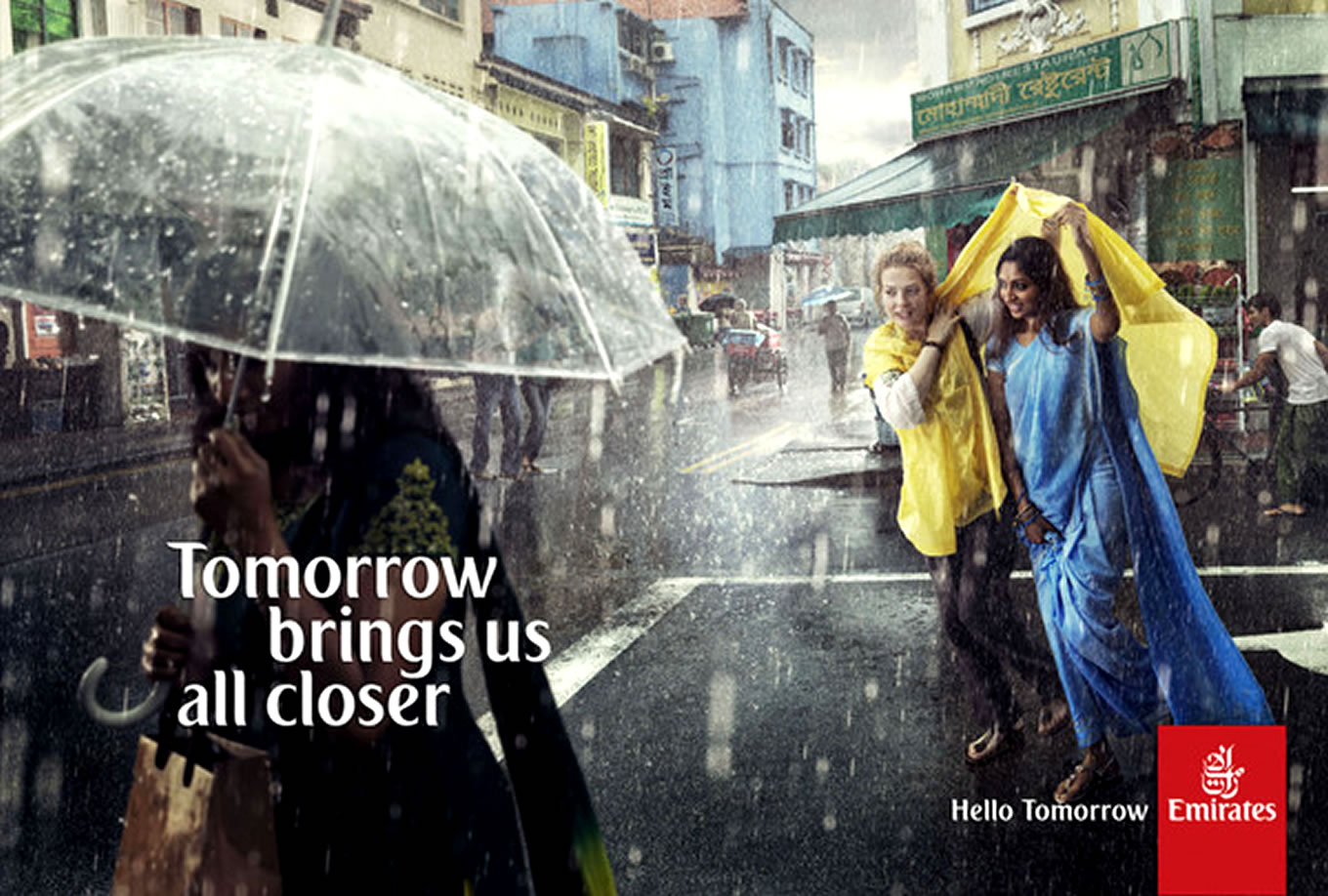 Brings Us All Closer, Hello Tomorrow Marketing Campaign by Emirates Airlines