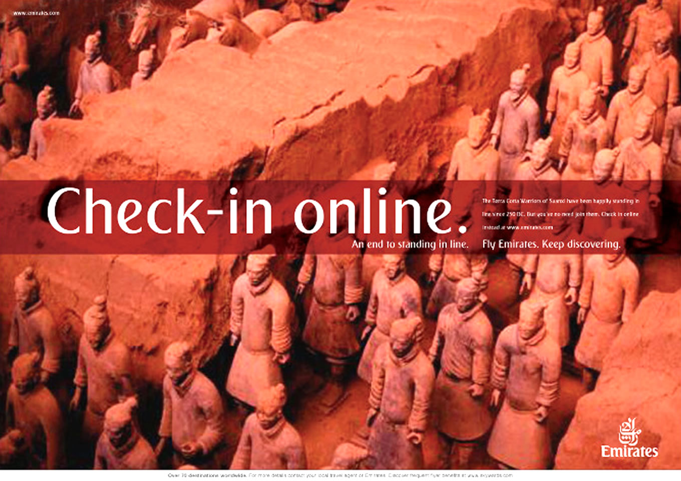 Check In Online Print Advertising, Keep Discovering Marketing Campaign by Emirates