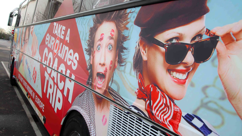 Coach Trip Bus Marketing Campaign by Eurolines UK