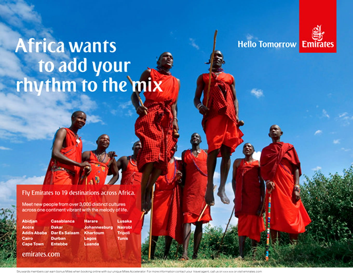 Destination Africa, Hello Tomorrow Marketing Campaign by Emirates Airlines