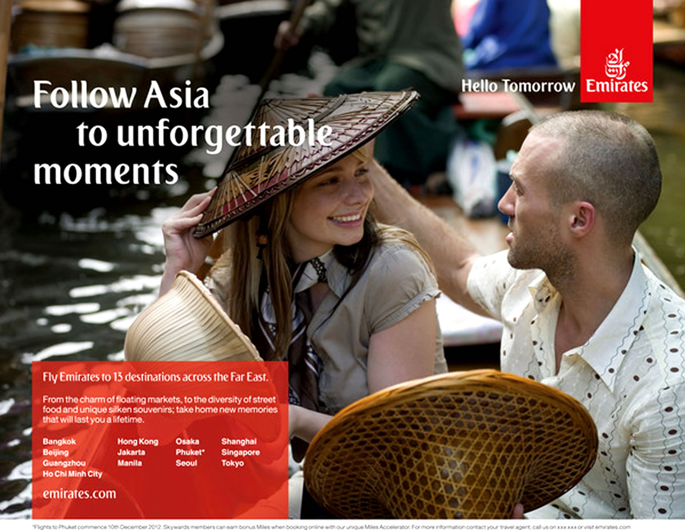 Destination Asia, Hello Tomorrow Marketing Campaign by Emirates Airlines
