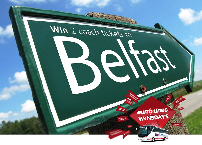 Destination Belfast Poster of Coach Trip Campaign by Eurolines UK