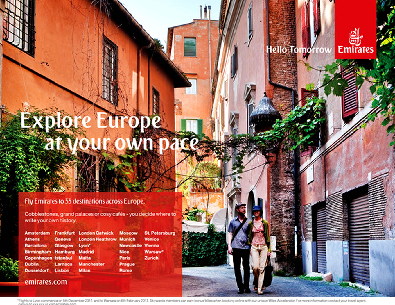 Destination Europe, Hello Tomorrow Marketing Campaign by Emirates Airlines