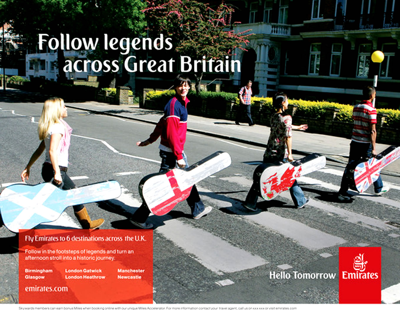 Destination Great Gritain, Hello Tomorrow Marketing Campaign by Emirates Airlines