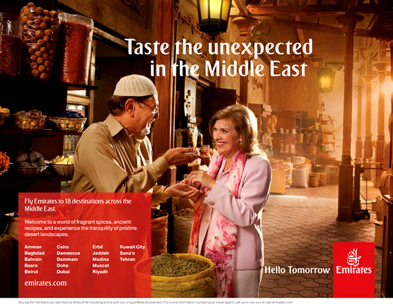 Destination Middle East, Hello Tomorrow Marketing Campaign by Emirates Airlines