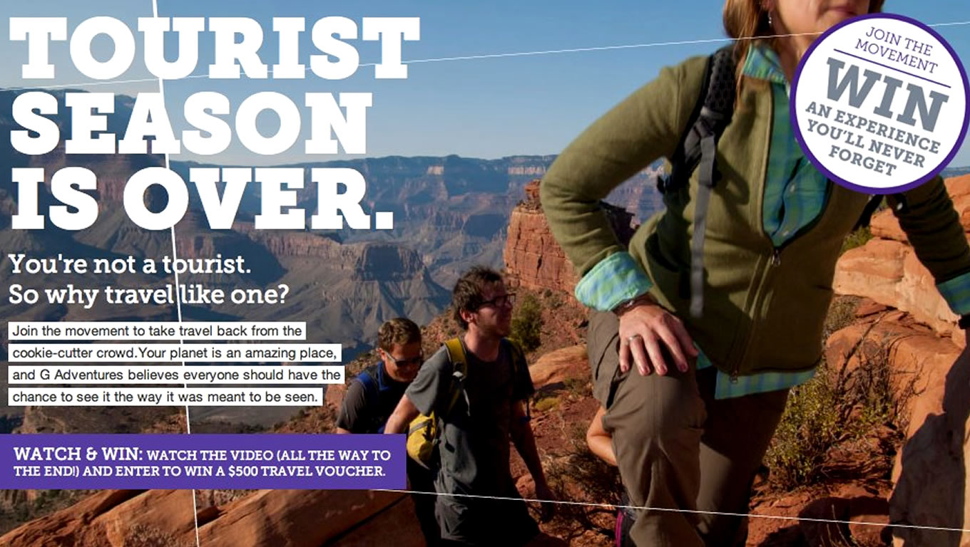 Destination North America, You Will Never Forget It Advertising Campaign by G Adventures
