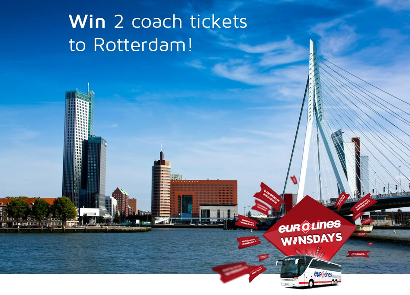 Destination Rotterdam Poster of Coach Trip Campaign by Eurolines UK