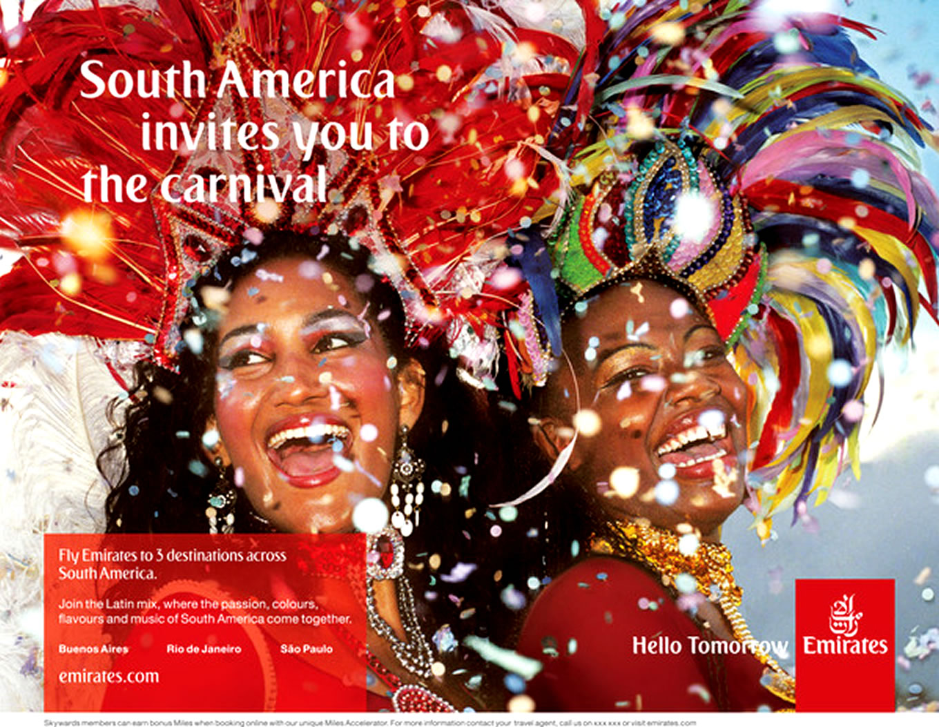 Destination South America, Hello Tomorrow Marketing Campaign by Emirates Airlines