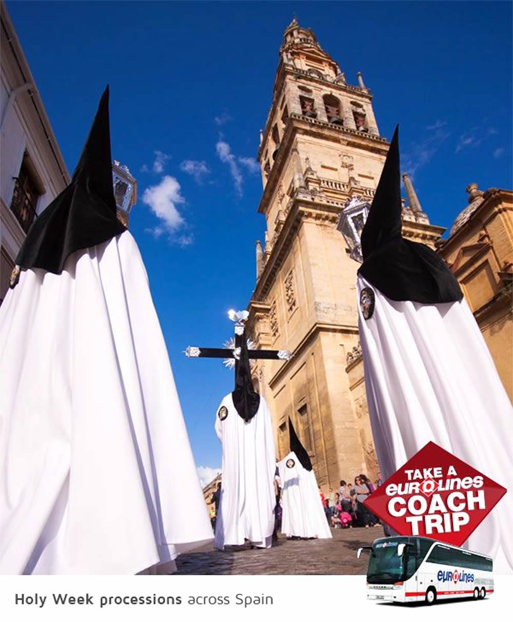Destination Spain Poster of Coach Trip Campaign by Eurolines UK