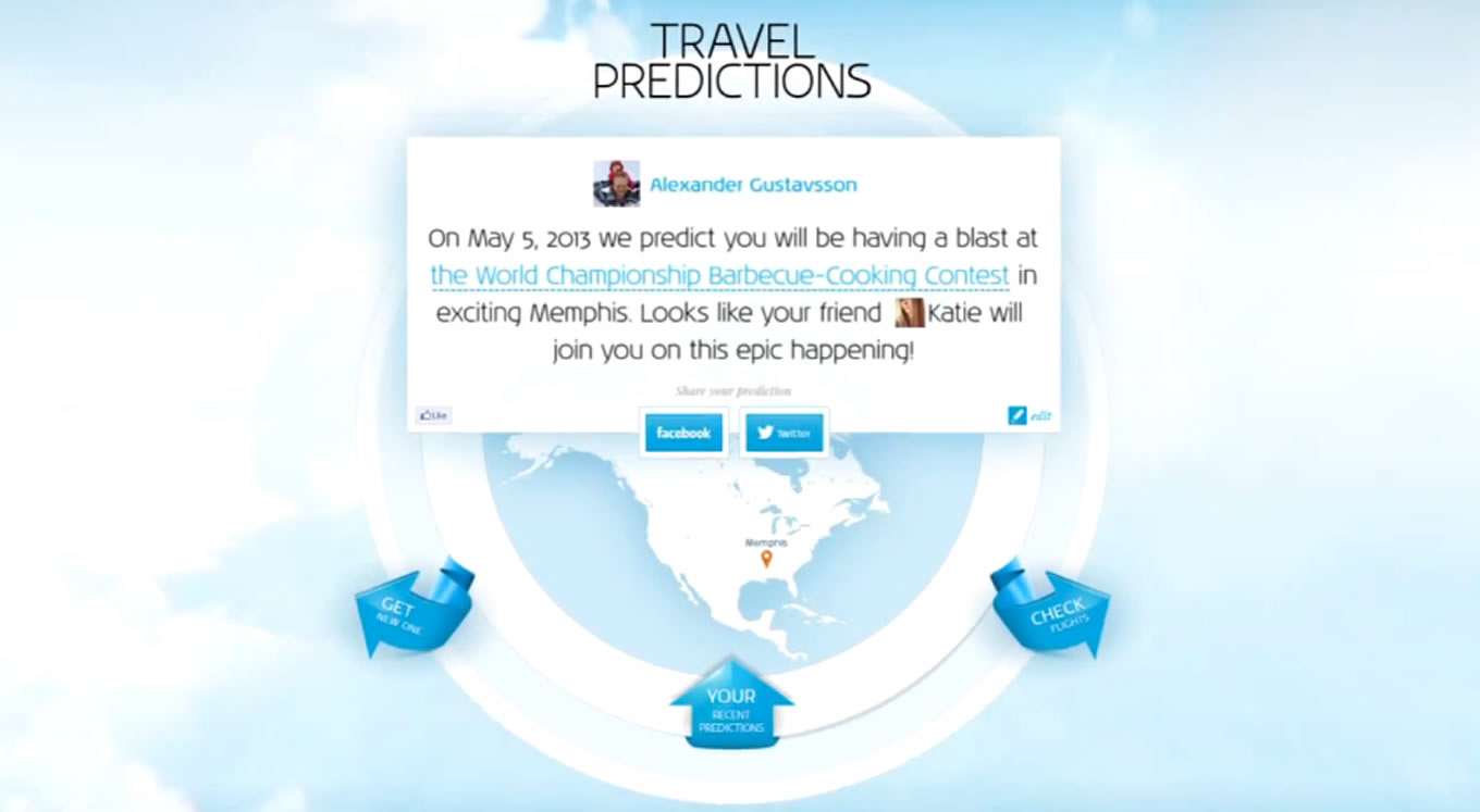 Destinations and Events Results of KLM Travel Predictions Campaign, Netherlands