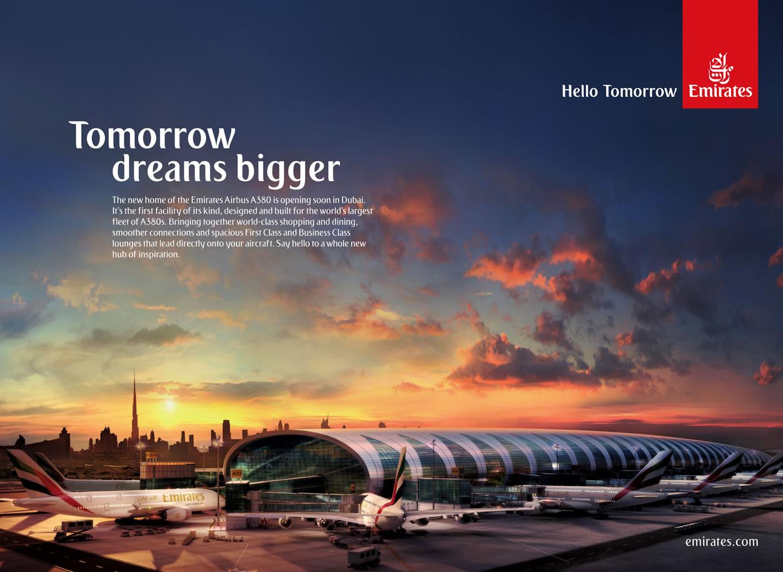 Dream Bigger, Hello Tomorrow Marketing Campaign by Emirates Airlines