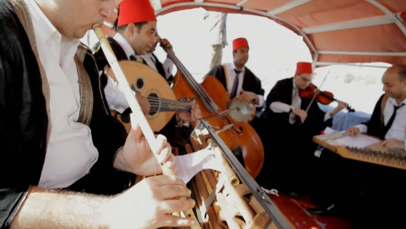 Egyptian Musicians at Harmony Marketing Campaign by Emirates