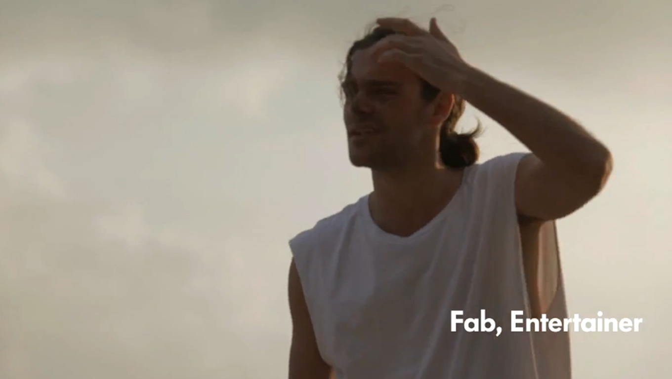 Entertainer Fab as The Sun Seekers of VW Beetle Cabriolet Campaign by Volkswagen