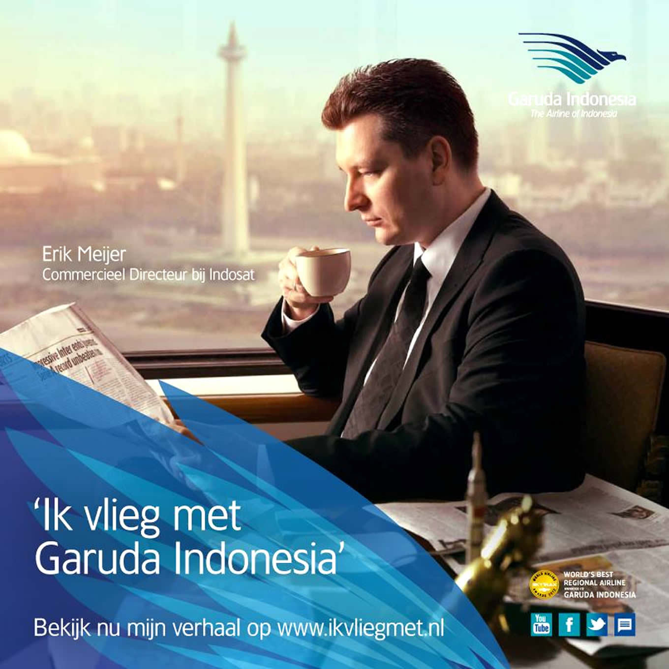 Erik Meijer, Ik Vlieg Met Travel Marketing Campaign by Garuda Indonesia Netherland