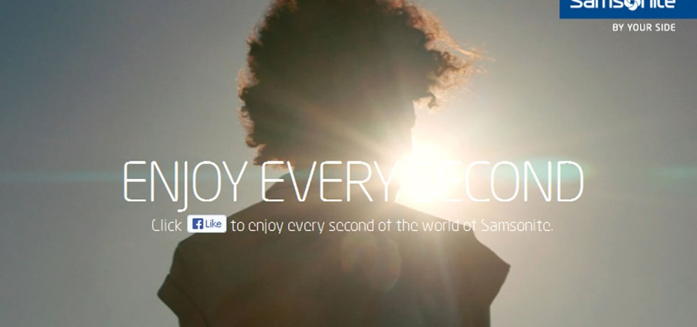 Facebook App for Enjoy Every Second Marketing Campaign by Samsonite Europe