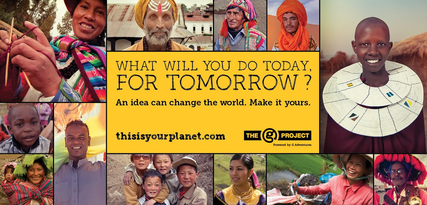 Facebook Cover Design of The G Project Advertising Campaign by G Adventures