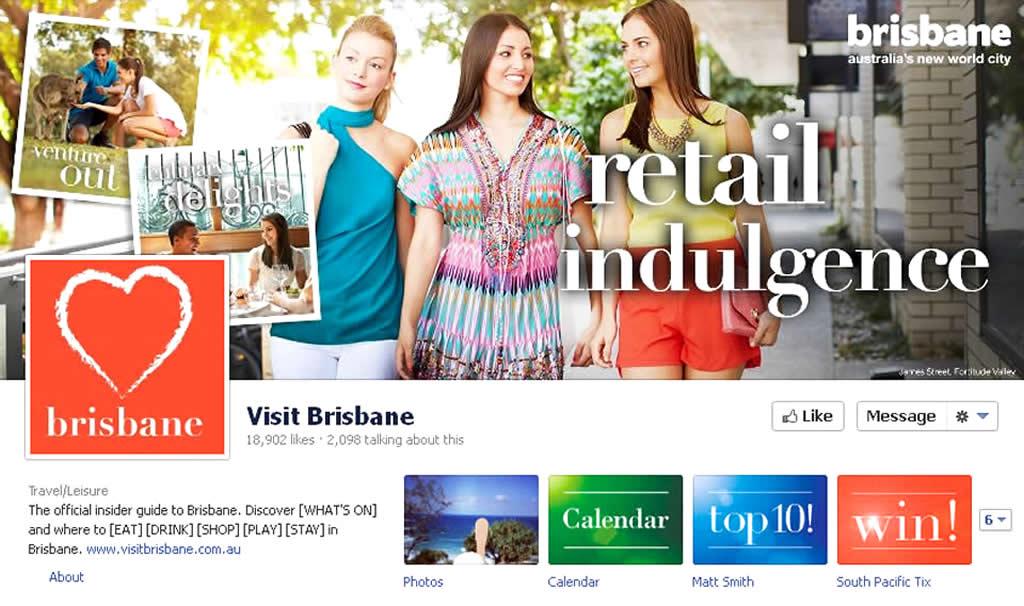 Facebook Fans Page Design of Online Tourism Campaign by Brisbane Marketing, Australia