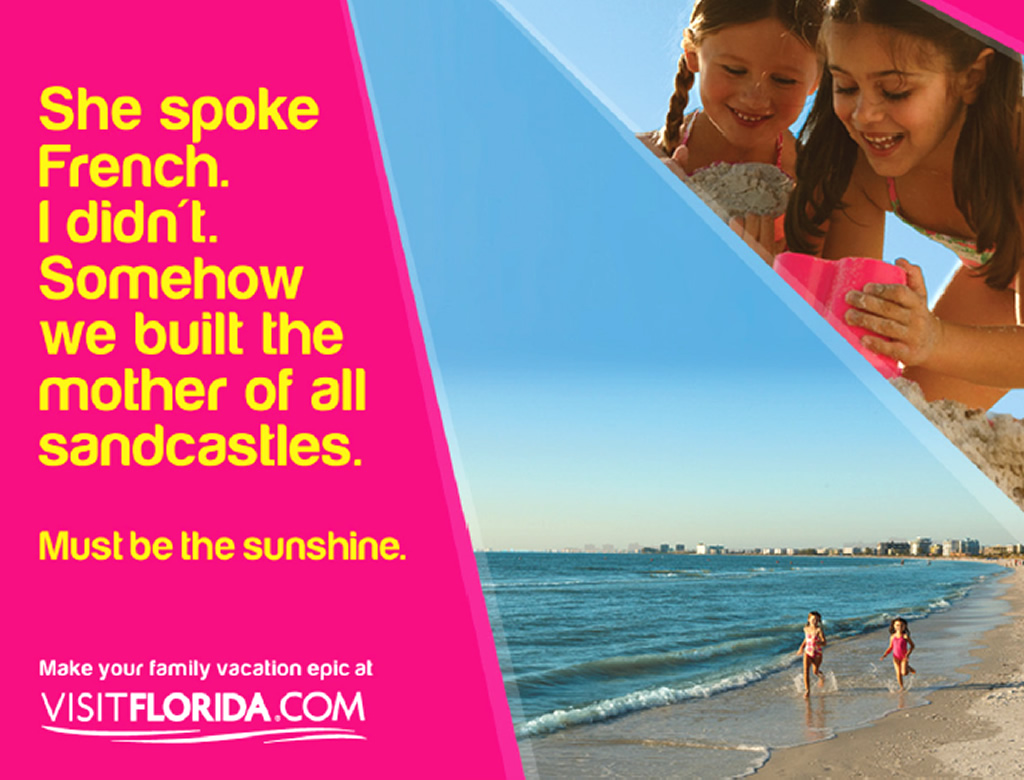 Family Vacation, Out of Home Tourism Brand Advertising Campaign by Visit Florida