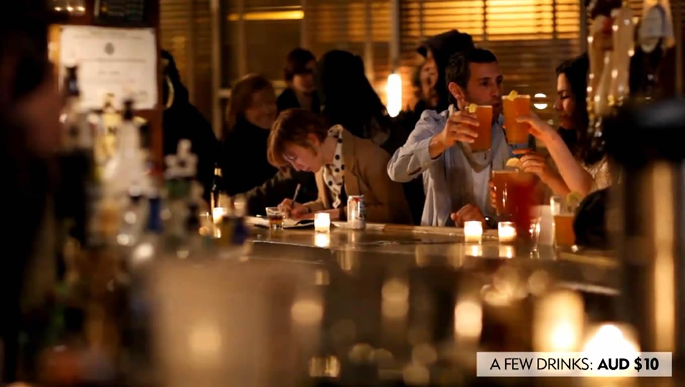 Few Drinks at Union Pool Brooklyn, No Booking Fees Marketing Campaign by Expedia Australia
