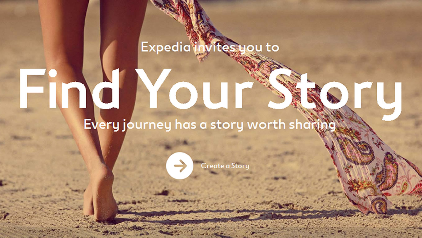 Find Your Story Facebook Marketing Campaign by Expedia