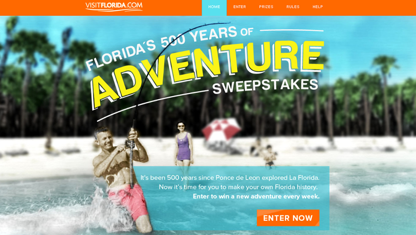 Florida 500 Years of Adventure Tourism Campaign by Visit Florida