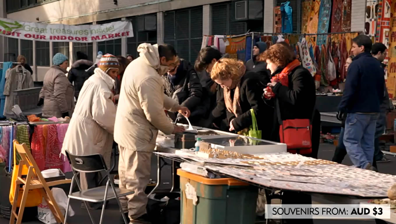 Great Flea Market in West Side NYC, No Booking Fees Marketing Campaign by Expedia Australia