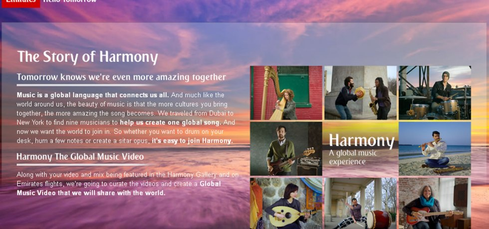 Harmony, Musical Based Marketing Campaign by Emirates