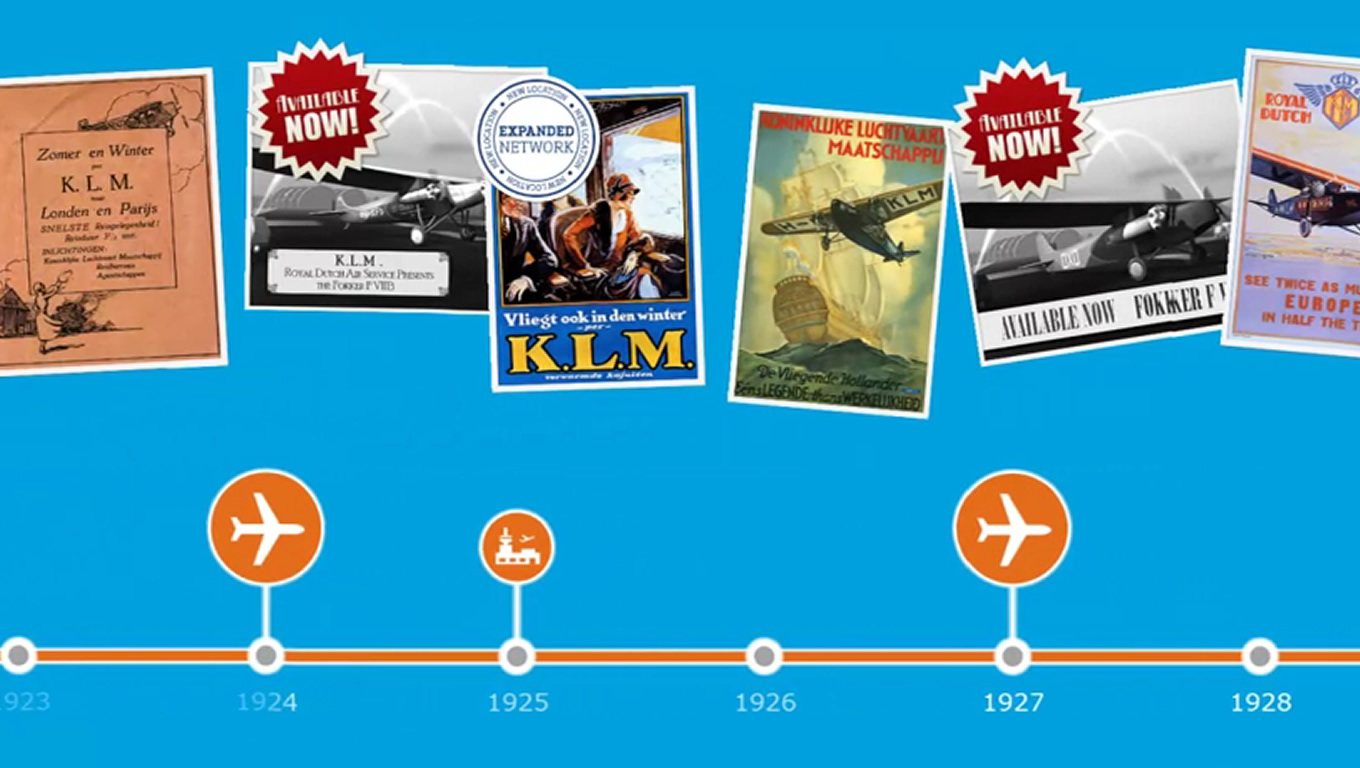 History of Travel Pioneer, Aviation Empire as Brand Advertising Campaign by KLM Netherlands