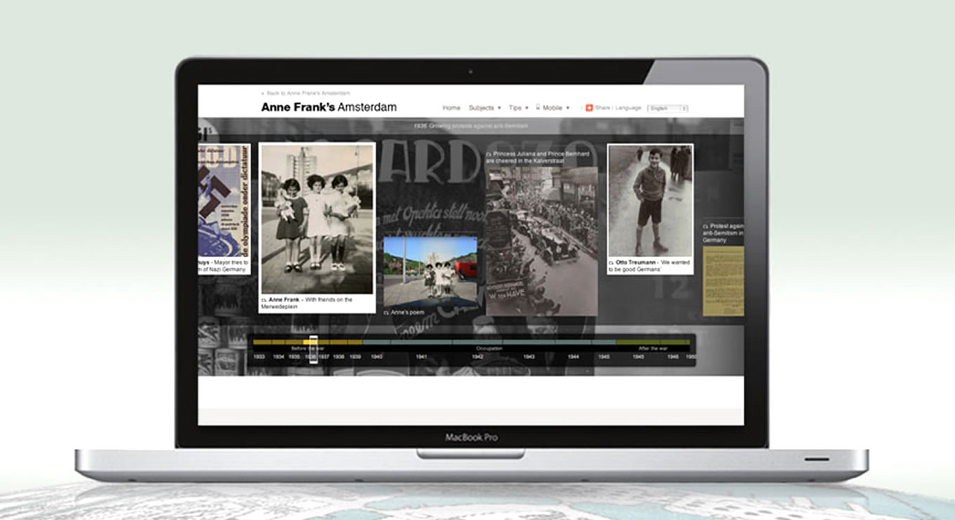 History Timeline of Anne Frank House Museum Campaign, Amsterdam