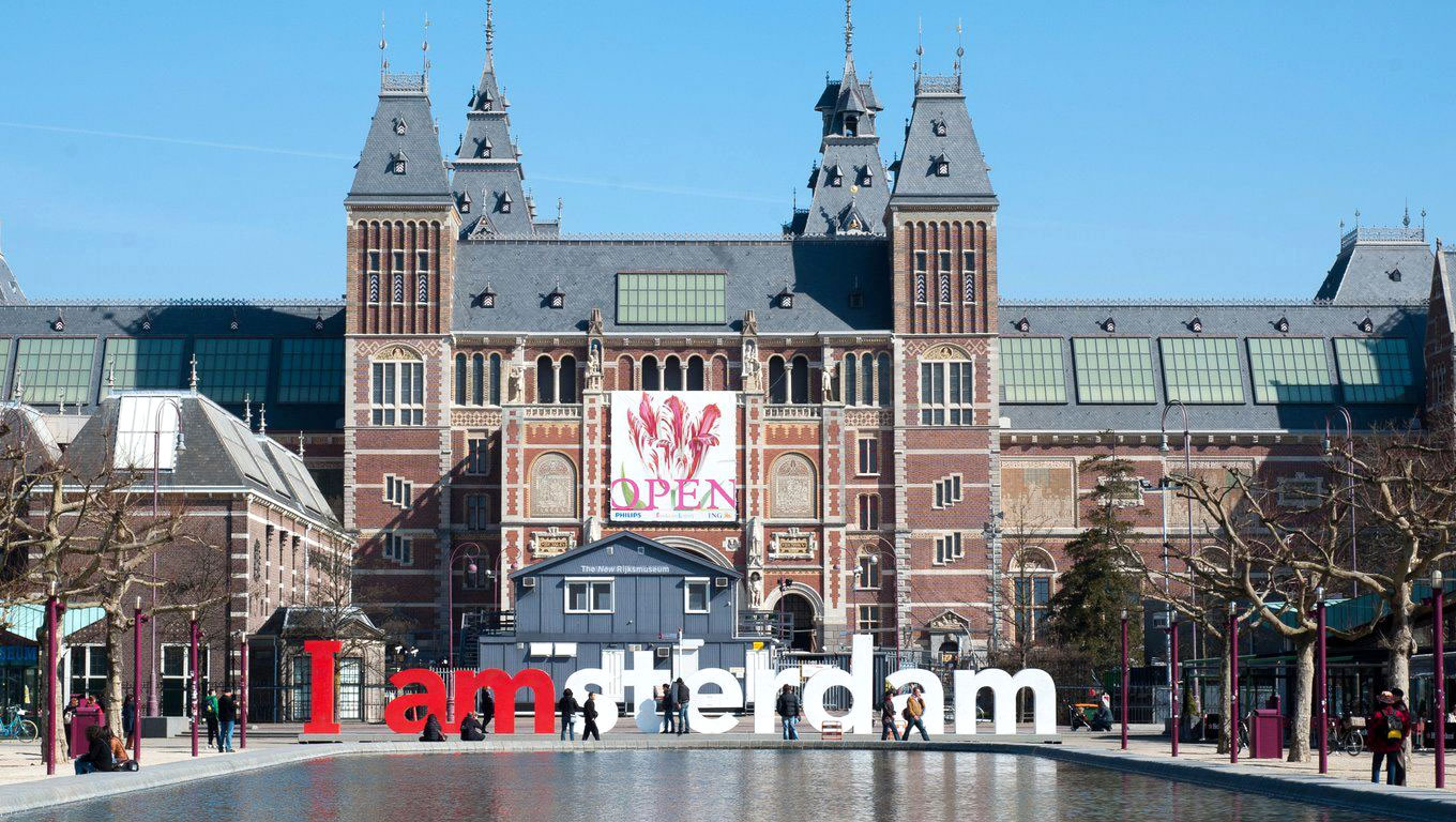 Iconic I amsterdam Sign at Rijksmuseum for Amsterdam Marketing Campaign, Netherlands