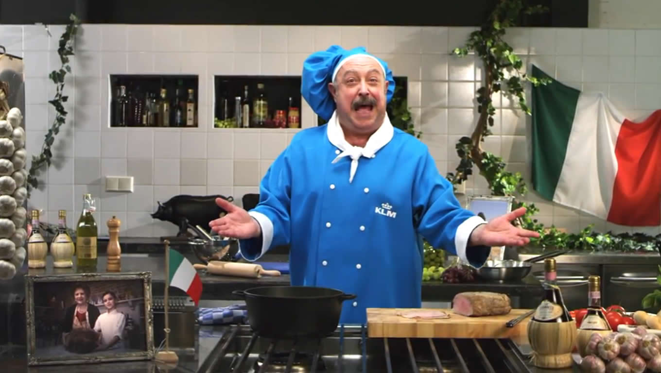 Italian A La Carte Meals Menu Marketing Campaign by KLM Netherlands