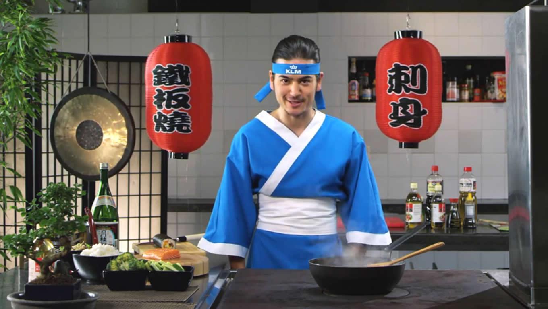 Japanese A La Carte Meals Menu Marketing Campaign by KLM Netherlands