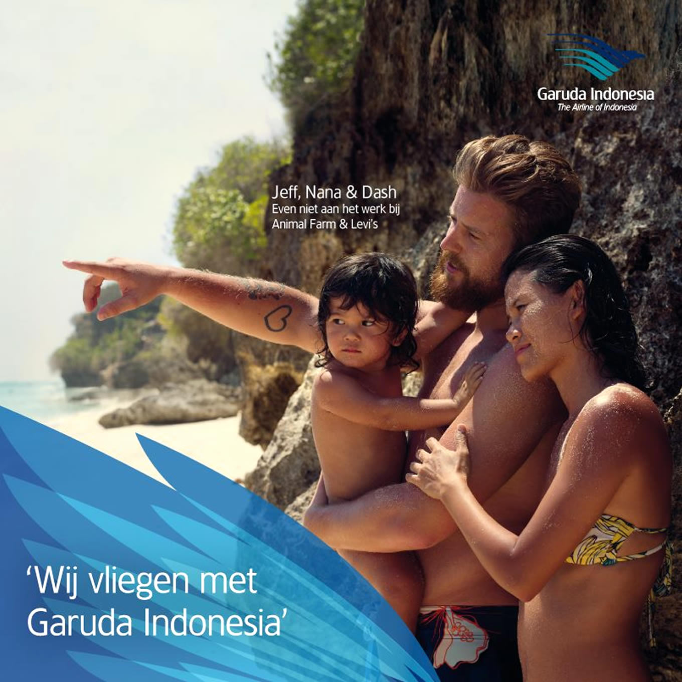 Jeff and Nana Family Holiday, Ik Vlieg Met Travel Marketing Campaign by Garuda Indonesia Netherland
