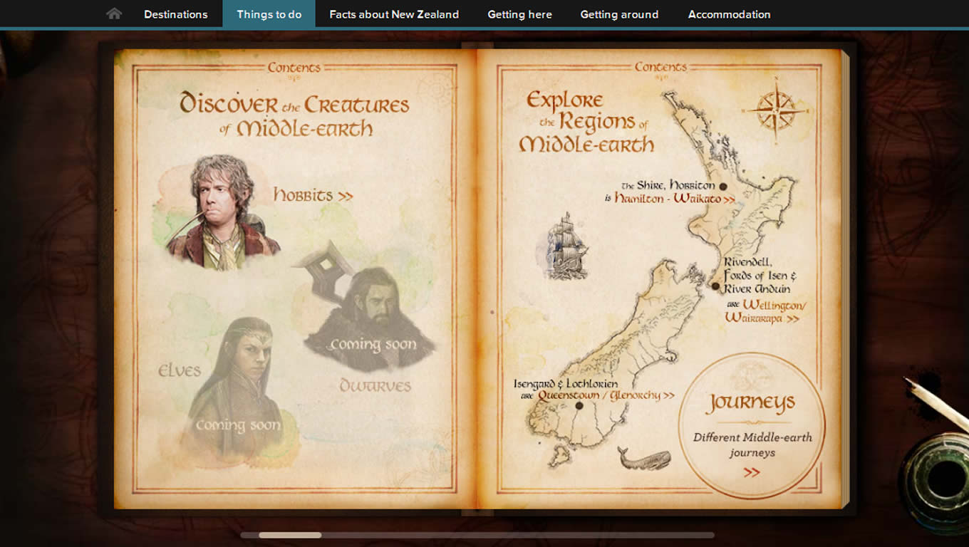 Journey to Middle Earth Book, Tourism Campaign of New Zealand