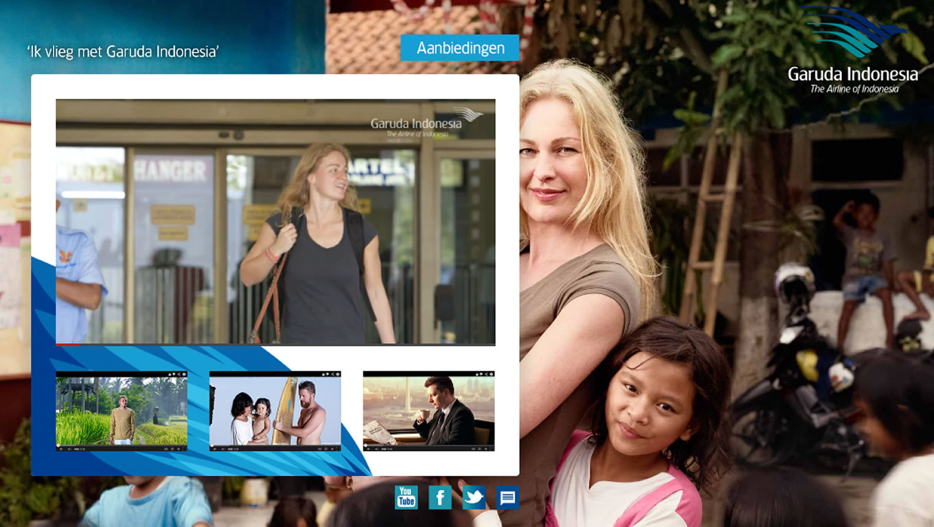 Landing Page Design of Ik Vlieg Met Travel Marketing Campaign by Garuda Indonesia Netherland