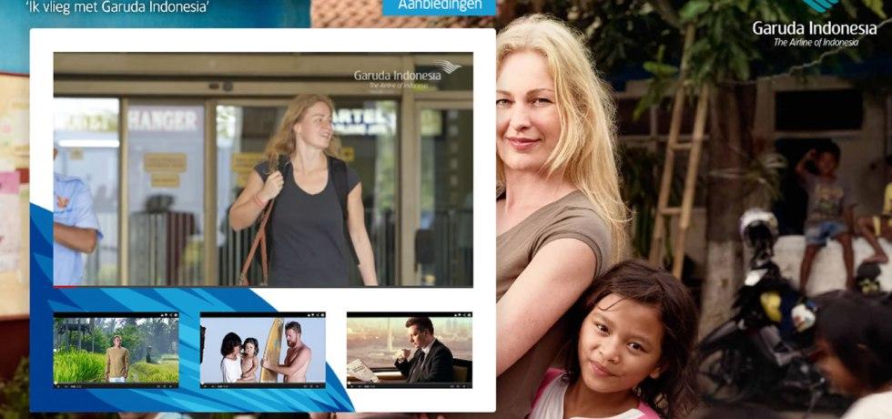 Landing Page Design of Ik Vlieg Met Travel Marketing Campaign by Garuda Indonesia Netherland