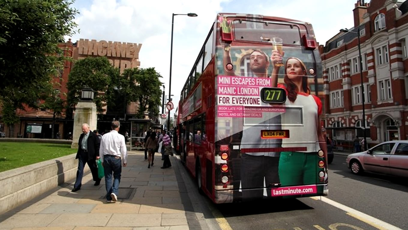 London Bus Advertising of For Everyone Marketing Campaign by Lastminute Dot Com