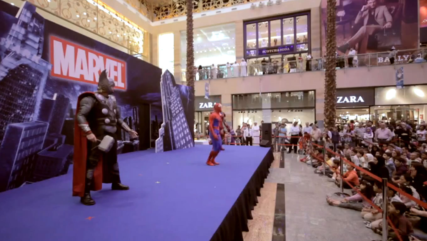 Marvel Heroes Show at Eid in Dubai Event Celebration