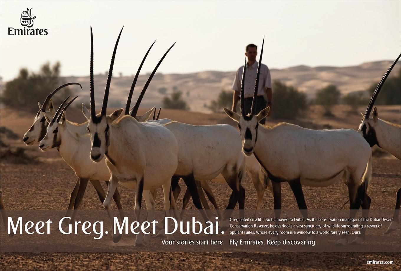Meet Greg, Meet Dubai Advertising Campaign by Emirates
