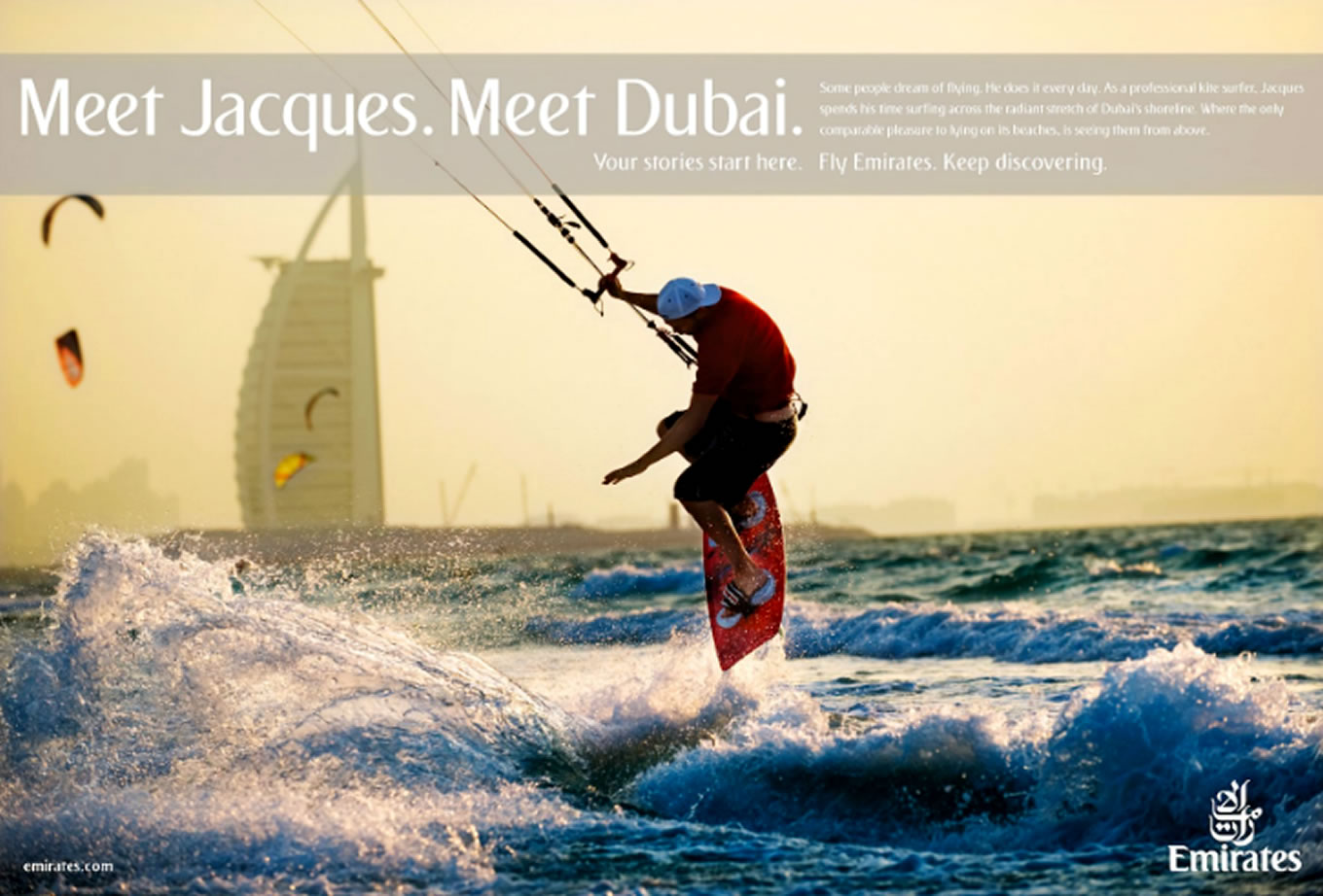 Meet Jacques, Meet Dubai Advertising Campaign by Emirates